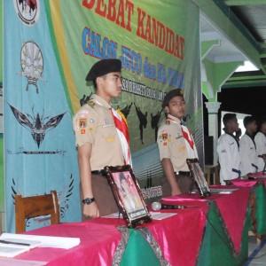 Penyampaian Visi Misi Kandidat Koordinator Pramuka dan Commando (Commitee Management Taekwondo) Massa Bhakti 2016/2017