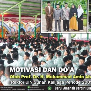 DO'A DAN MOTIVASI OLEH Prof. Dr. H. Muhammad Amin Abdullah, M.A (Rektor UIN Sunan Kalijaga Periode 2005 - 2010) Minggu , 11 Maret 2018