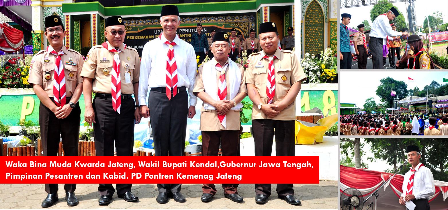 Hadiri Upacara Penutupan Perkemahan Pramuka Santri Nusantara, Gubernur Jawa Tengah Beri Motivasi kepada Santri