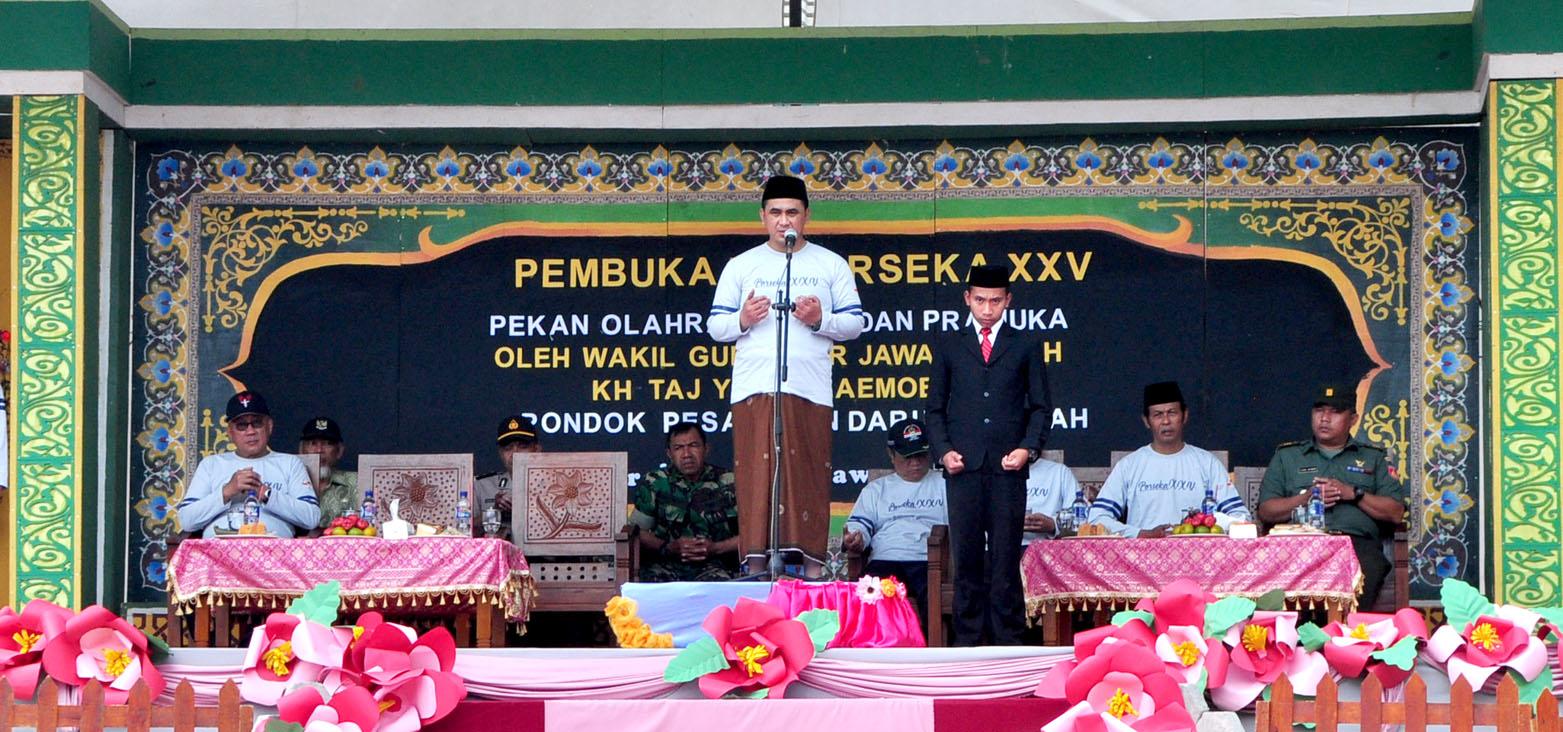 KH. Taj Yasin Maimoen, Buka PORSEKA XXV Pondok Pesantren Darul Amanah