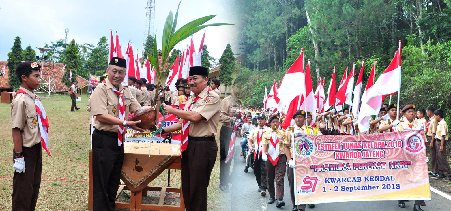 Estafet Tunas Kelapa Kwarda Jateng. Darul Amanah Kawal Tunas Kelapa di Etape kedua Kabupaten Kendal Hingga ke Batang