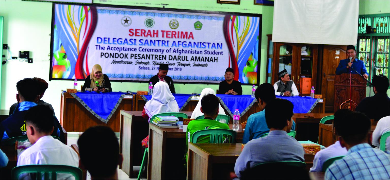 Serah terima Delegasi Santri Afghanistan dari Pondok Pesantren Darul Amanah ke Majelis Ulama' Indonesia (MUI)
