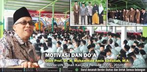 DO'A DAN MOTIVASI OLEH Prof. Dr. H. Muhammad Amin Abdullah, M.A (Rektor UIN Sunan Kalijaga Periode 2005 - 2010)