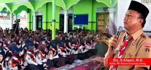 Kabid. PD Pontren Kemenag JAwa Tengah dalam sarasehan Peserta PPSN V tingkat Jawa Tengah