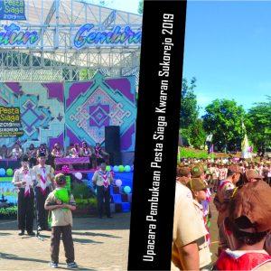 Upacara Pembukaan Pesta Siaga Kwaran Sukorejo 2019 di Pondok Pesantren Darul Amanah