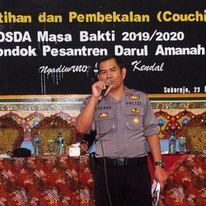 Pelatihan dan Pembekalan Pengurus OSDA. Iptu Sugeng, SH : Stop Bullying dan Jauhi Narkoba