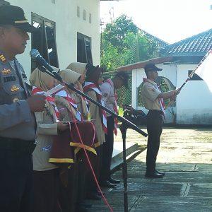 Pengambilan Badge Saka Bhayangkara. Kapolsek Sukorejo : Harus Menjadi Pribadi yang Bertaqwa