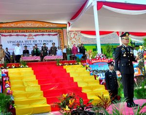 73 Tahun POLRI, Polres Kendal Gelar Upacara Peringatan di Pondok Pesantren Darul Amanah