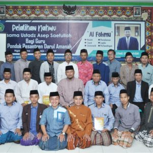 """Dewan Guru Darul Amanah Ngadiwarno Sukorejo Ikuti Pelatihan Nahwu Metode """"Al-Fahmu"""""""