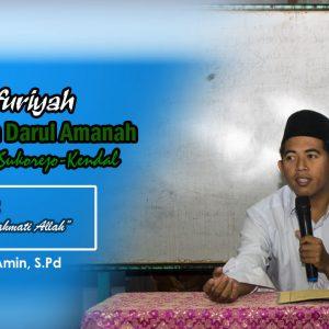 """Kajian Kitab Mauidzah Ushfuriyah (Hadis 2) : """"Kisah Ahli Maksiat yang Dirahmati Allah"""" – Ustadz Makinun Amin, S.Pd"""