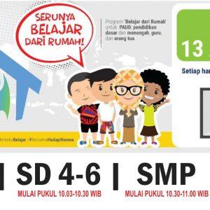 PEMBERITAHUAN SIARAN BELAJAR DI TVRI | KEMENTERIAN AGAMA REPUBLIK INDONESIA DIREKTORAT JENDERAL PENDIDIKAN ISLAM