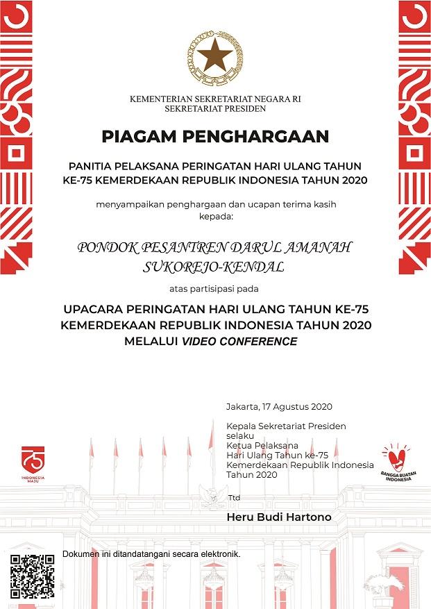 sertifikat kepresidenan