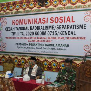 Cegah Tangkal Faham Radikalis, Kemenag bersama KODIM 0715 Gelar KOMSOS di Pondok Pesantren Darul Amanah