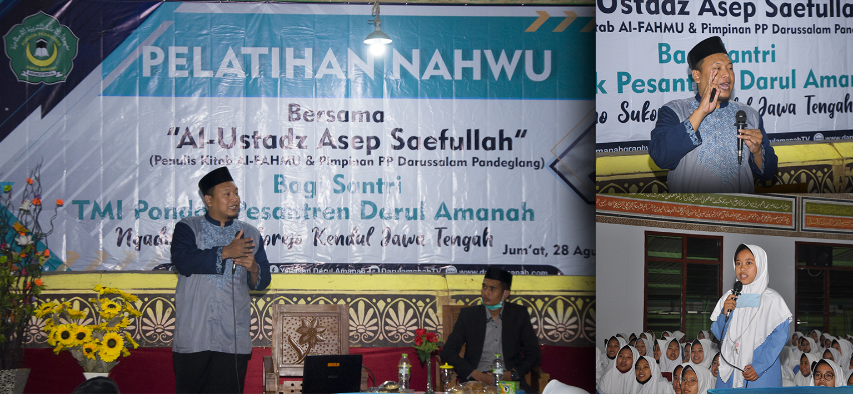 Ratusan Santri Darul Amanah Ikuti Pelatihan Nahwu Metode Al-Fahmu