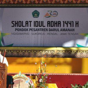IDUL ADHA 1441 H : Ribuan Santri Pondok Pesantren Darul Amanah Laksanakan Sholat Idul Adha 1441 H