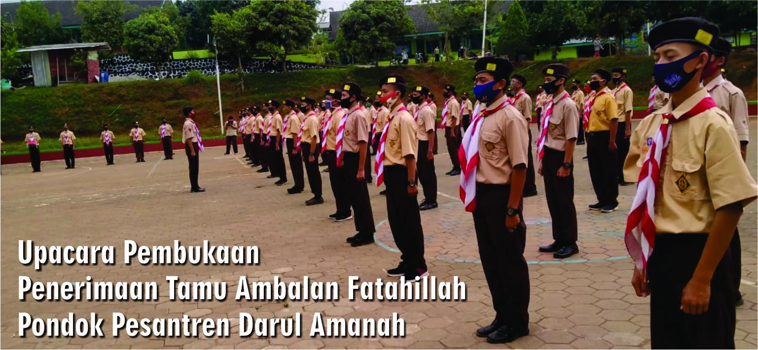 Pramuka Gugus Depan Pondok Pesantren Darul Amanah Laksanakan Penerimaan Tamu Ambalan (PTA) Tahun 2020