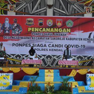 Kapolres Kendal Canangkan Ponpes Siaga Candi Covid-19 di Pondok Pesantren Darul Amanah