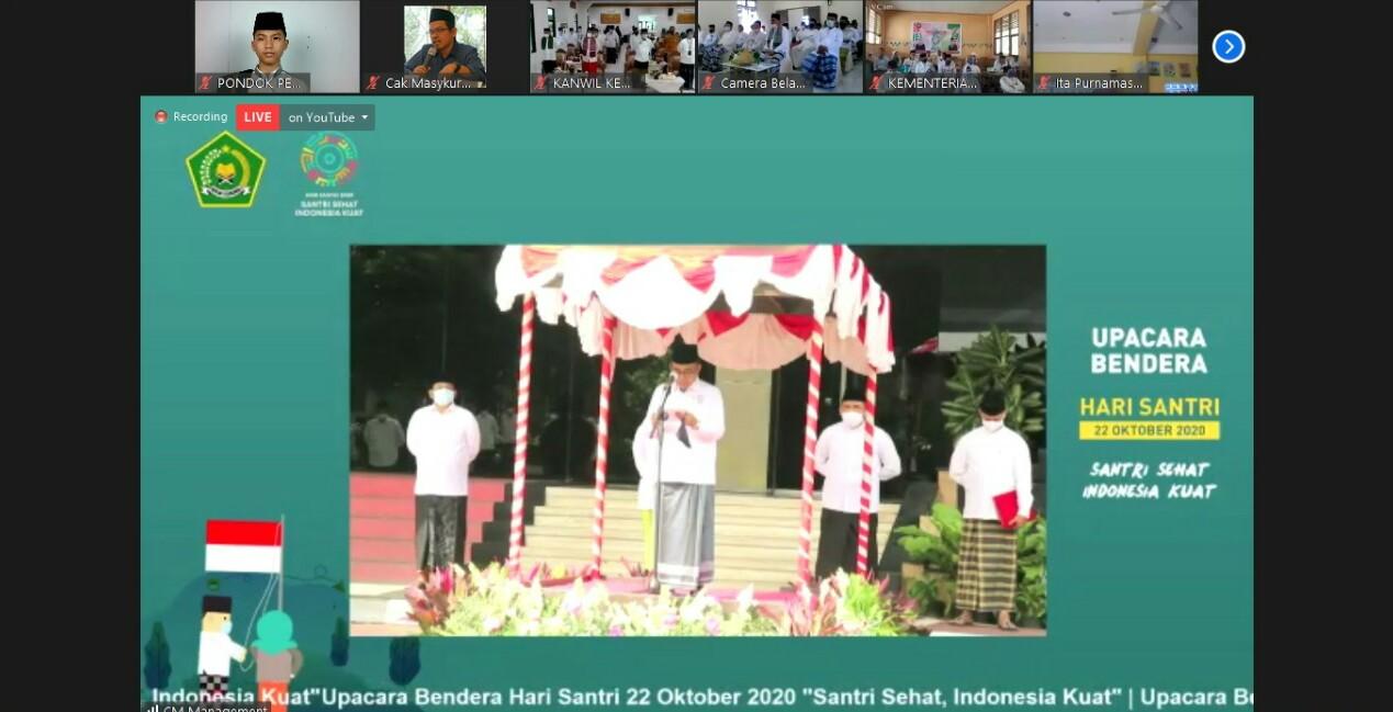 Santri Pondok Pesantren Darul Amanah Ikuti Upacara Peringatan Hari Santri Bersama Kementerian Agama RI Melalui Virtual