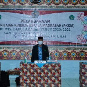 Penilaian Kinerja Kepala Madrasah (PKKM) MTs Darul Amanah, H. Makhasin : Saya Harap Darul Amanah Jadi Percontohan