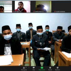 Panitia PORSEKA Pondok Pesantren Darul Amanah Gelar Rapat Koordinasi Virtual Bersama Ketua Kelas
