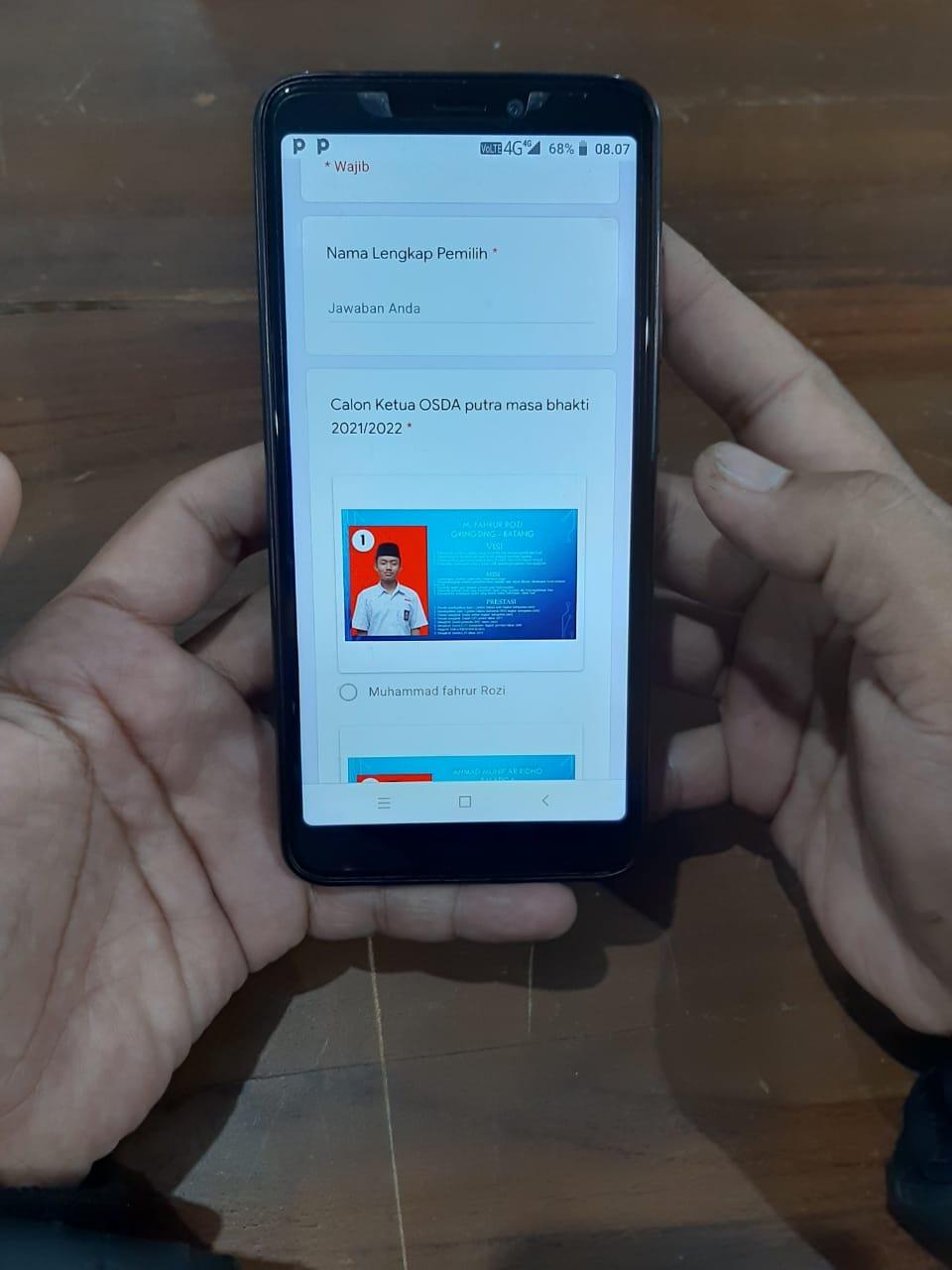 Terapkan Teknologi : Pondok Pesantren Darul Amanah Pilih Kandidat Calon Ketua dan Wakil Ketua OSDA menggunakan E-Voting