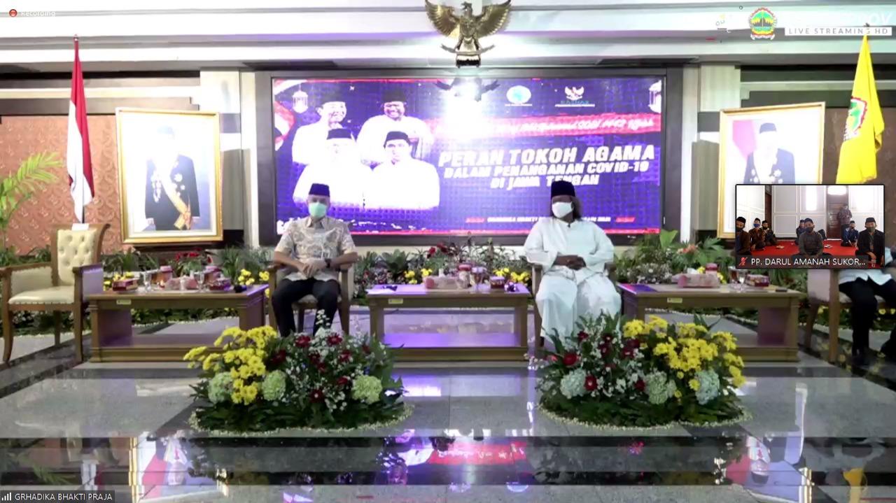 Pondok Pesantren Darul Amanah Ngadiwarno Sukorejo Kendal Ikuti Peringatan Isra' Mi'raj Melalui Virtual