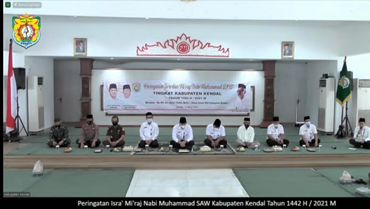 Pondok Pesantren Darul Amanah Mengikuti Pengajian Isra' Mi'raj Nabi Muhammad SAW Tahun 1442 H Melalui Virtual
