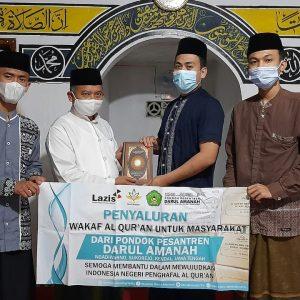 Pondok Pesantren Darul Amanah Salurkan Ratusan Mushaf Al-Qur'an Untuk Masyarakat